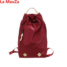 34a9af580a La MaxZa Fashion Waterproof Red Travel Backpack Big Size Men s Backpack  Female School Bag Nylon Male