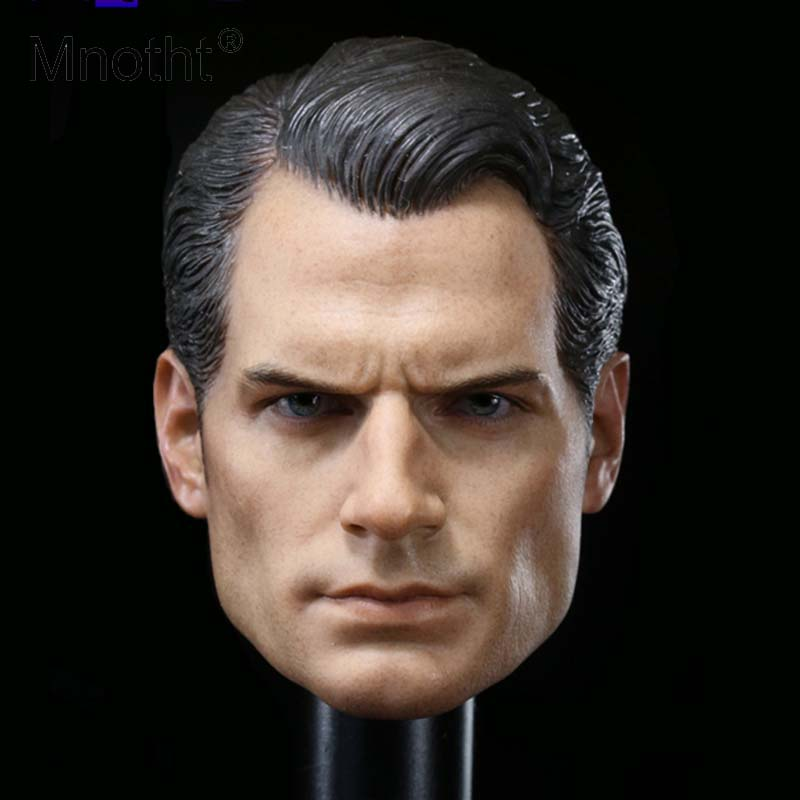 Mnotht Custom 1/6 Scale Henry Cavill Batman v Superman 2 Head Sculpt For Hot Toys Body Action Figure Model Toys Collections все цены