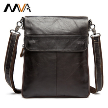 Cowhide Genuine Leather Shoulder Bags Small Crossbody Bag Ipaid Men Messenger Bags Handbag Small Men's Leather Bag Male Flap MVA