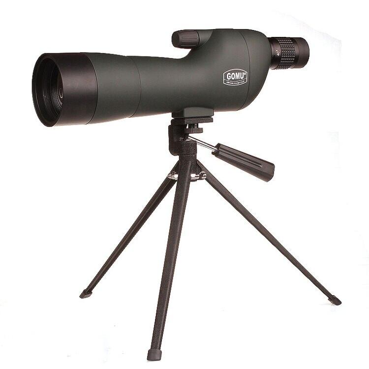 GOMU 20-60x60SE(180-Degree Angled) Optics Zoom Waterproof Spotting Scope with Tripod free shipping gomu waterproof angled 20 60x60 zoom spotting scopes telescope for bird watching tripod
