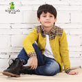 KAMIWA 2016 Spring Cotton Knitting Full Baby Boys Casual Cardigan Sweaters Teenage Shirts Children's Top Clothing Kids Clothes