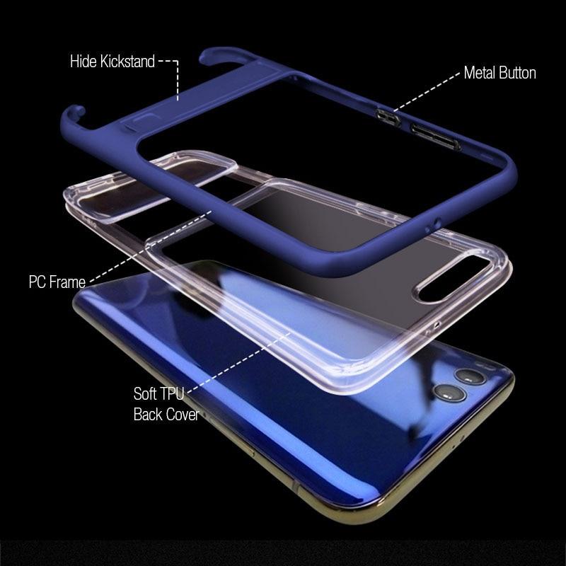 3D Kickstand Silicone հեռախոսի պատյան Xiaomi Mi 6 Mi6 - Բջջային հեռախոսի պարագաներ և պահեստամասեր - Լուսանկար 4