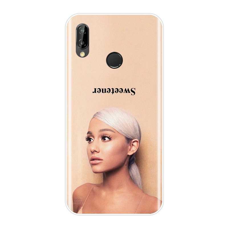 Funda Ariana Grande Singer para Huawei P20 Lite Pro P9 P10 P Smart Plus P8 P9 Lite Mini 2017 funda trasera de silicona suave para teléfono