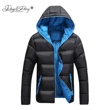 DAVYDAISY 2019 New Arrival Man Parkas Winter Men Jackets Hooded Warm Thin Coat Brand Fashion Autumn Male Jacket S 4XL JK082