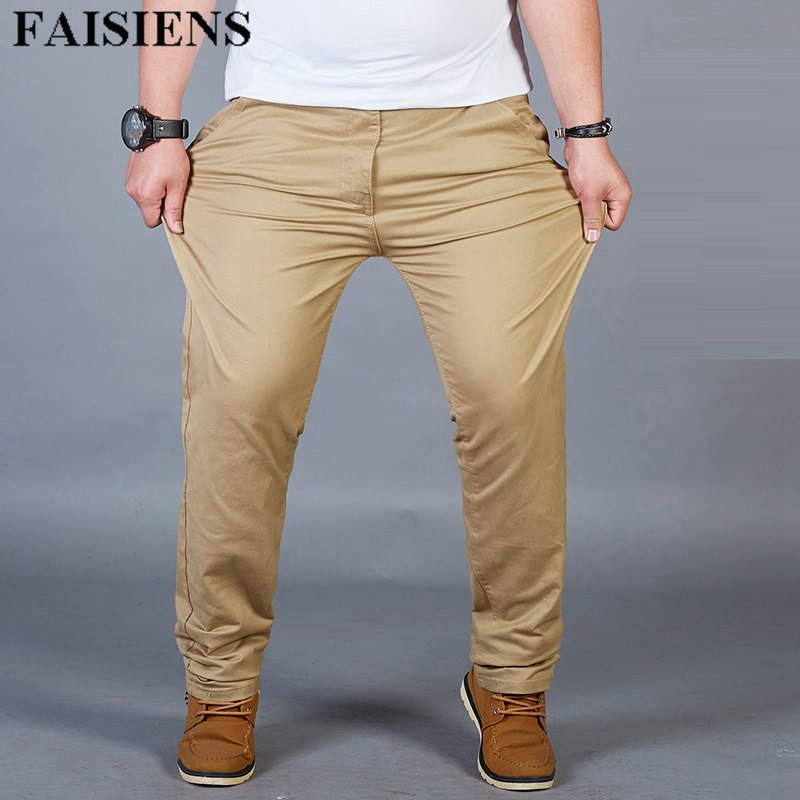 SportsX Mens Loose Plus Size Strappy Stretch Chino Pants Trousers