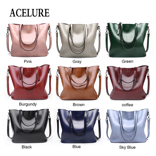 ACELURE Vintage Women Shoulder Bag Female Causal Totes for Daily Shopping All-Purpose High Quality Ladies Handbag bolsa feminina 2