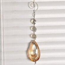 H& D Хрустальная подвеска в форме капли, 63 мм, люстра для шампанского, часть для освещения, Висячие призмы, украшение для дома, вечерние