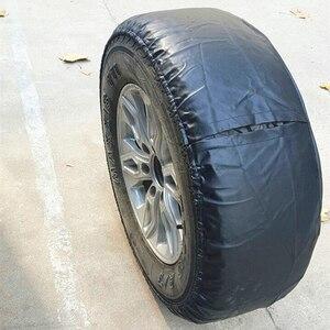 Image 4 - Weiche PVC Leder Ersatz Reifen Abdeckung Wasserdichte Finger Typ RV Rad Fall für Jeep LAND ROVER SUV Reifen Auto außen Zubehör