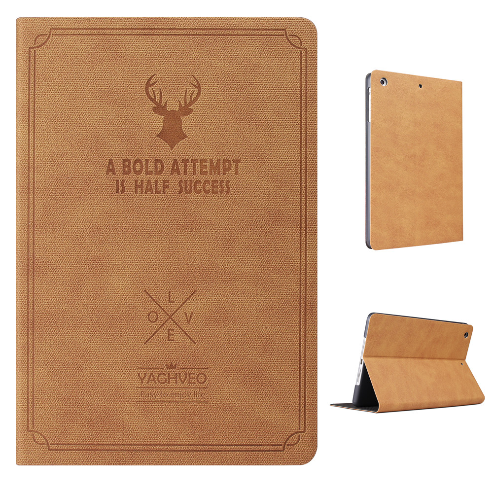 Deer Pattern PU Leather Full Body Case With Stand for iPad Air 1 Air 2 New iPad 2017 2018 9.7 inch