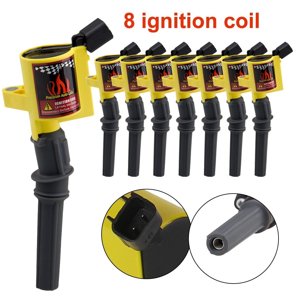 8pcs  Ignition Coils For Ford Lincoln Mercury 4.6L 5.4L 6.8 L V8  DG508Y8 88921369 A780X12300HA C409 C469