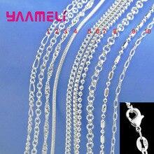 100%  Plata de Ley 925 collar con cierres de langosta  10 diseños
