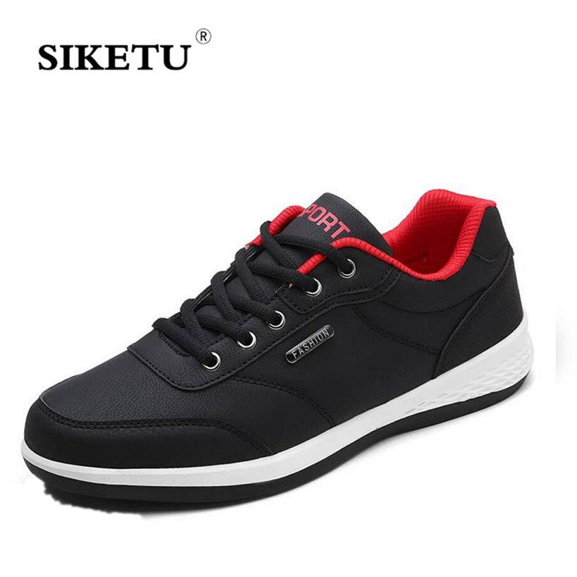 Men Casual Shoes Spring Autumn Flat Shoes Lace up Action Leather Men Footwear Lightweight Comfortable Quality