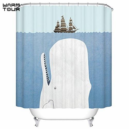 WARM TOUR Whale & Sail Design Fabric Shower Curtain Waterproof Polyester  Bath Curtain Hospital & Hotel - Popular Hospital Shower Curtain-Buy Cheap Hospital Shower Curtain