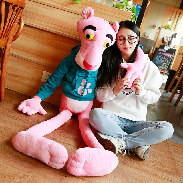 1PC 55 150CM High Quality Big Size Baby Toys Plaything Cute Naughty Pink Panther Plush Stuffed Doll Toy Home Decor Kids Gift