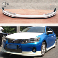 For Lexus CT200h (2011+) TM Style FRP Glass Fiber Front Half spoiler Lip Body Kit Tuning Part For Lexus Fiberglass Front Lip