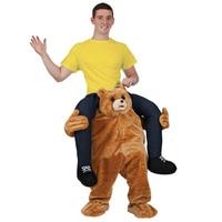 2017 Teddy Bear Stuffed Ride On Me Orangutan Mascot Carry Back Fancy Dress Costum