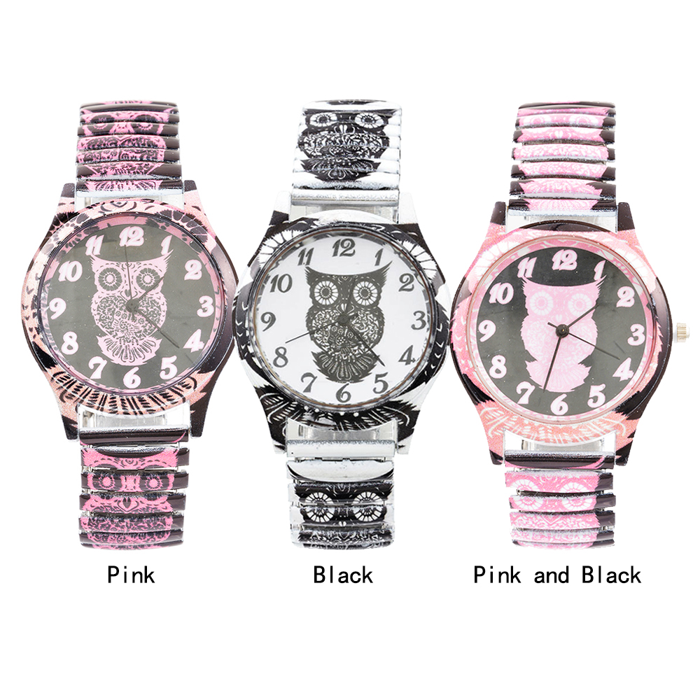 Bracelet Watch Elastic-Band Fashion Women Lovely Owl-Quartz Students 20cm New Dress