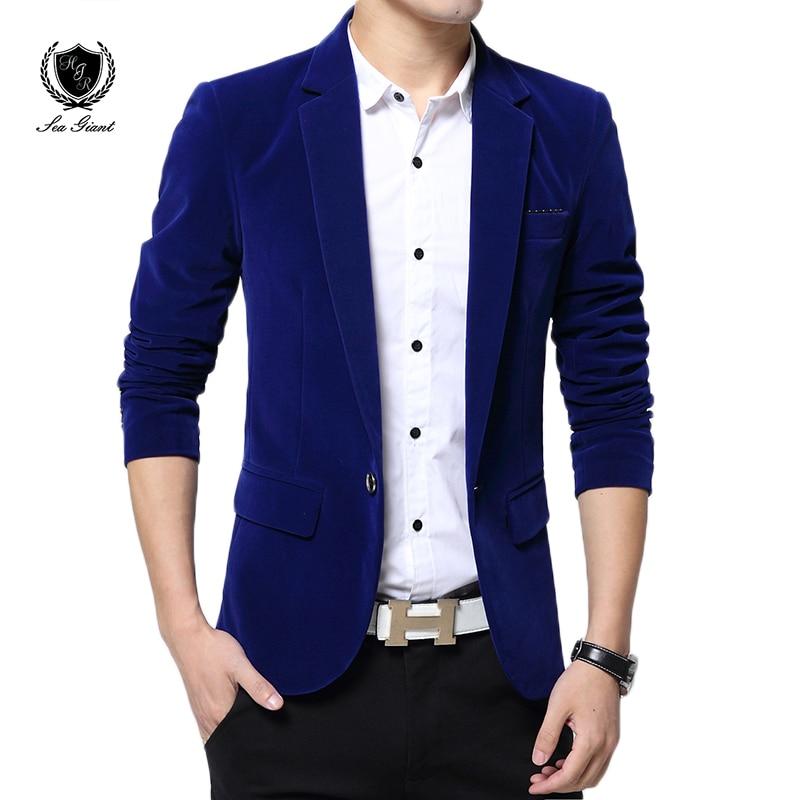 Nueva llegada solo botón vestido de boda hombres blazer primavera moda de  alta calidad slim fit hombres Abrigos traje terno masculino Blazers en  Blazers de ... 6f9671449a5d