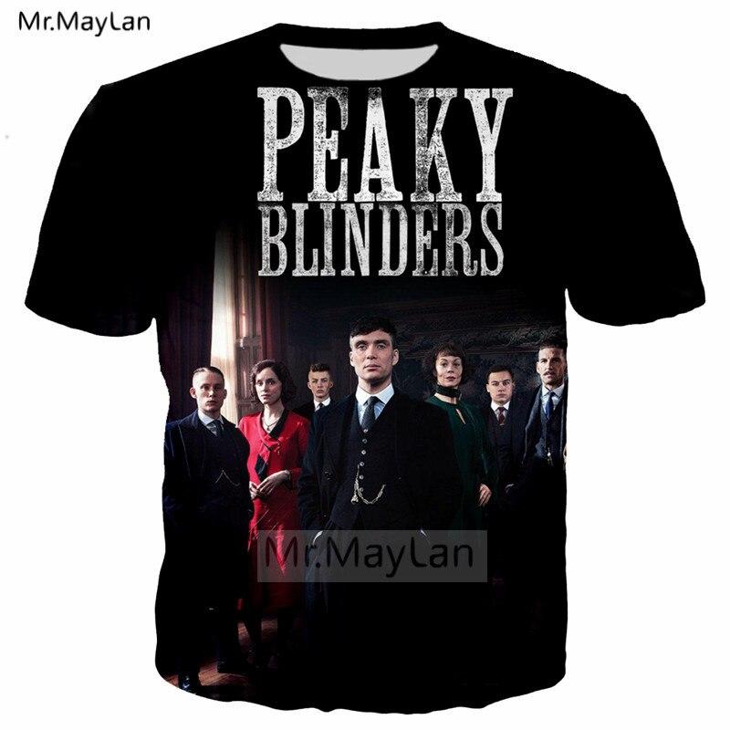Underworld Drama Peaky Blinders 3D Print Tshirt Men/women Streetwear Rock T shirt Tee T-shirt Boys Cool Modis Black Clothes 6XL
