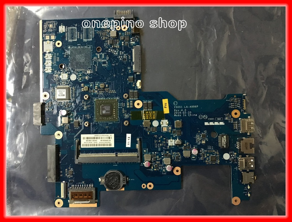 764001-001 For HP 15-G series Laptop Motherboard ZS051 LA-A996P REV:4.0 764260-001 built on CPU mainboard Tested 90Days Warranty