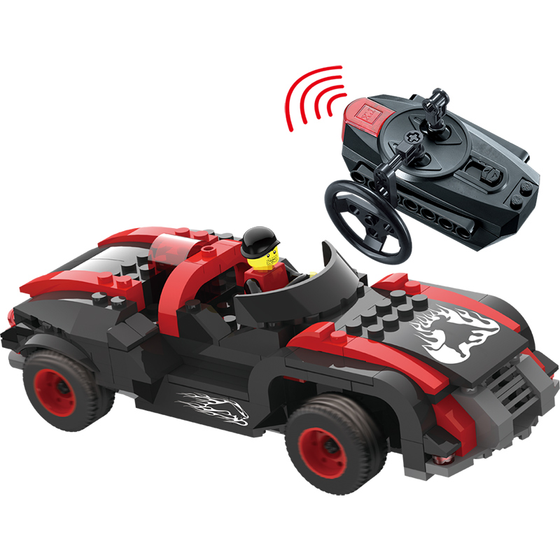 RC Car Remote control Blocks Car Compatible LegoINGLY Assembled Blocks Toys Building Blocks Armor Cattle Car For Children 12dd building blocks assembled remote control car educational toys red black