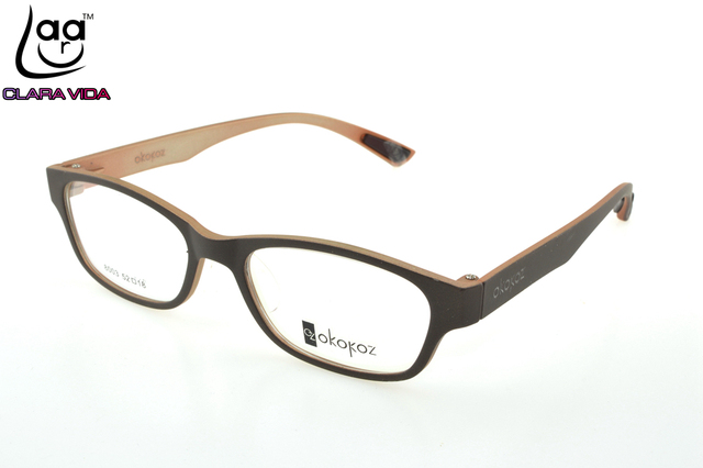 8fffa536160 Wood color TR90 Ultra Light Memory Nerd Glasses Frame Custom Made Optical  Prescription READING Glasses Photochromic