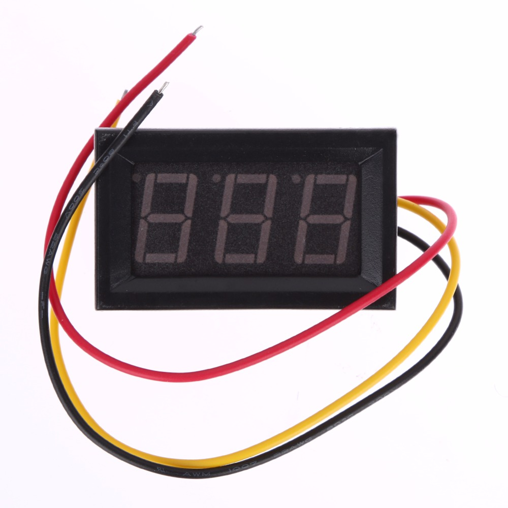 High Voltage Detector With Display : High quality wires mini digital voltmeter red led display
