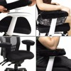 2pcs Chair Armrest Pads Ultra Soft Memory Foam Elbow Pillow Suppor Fit For Home Office Chair