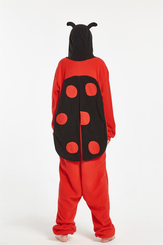 Warm Costumes Halloween Animal Adult Ladybug Onesie Unisex Insect Pajamas Romper Halloween Christmas Party Costumes Sleepwear