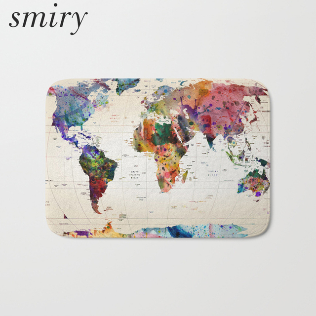 map on door smiry water absorption commercial door mat vintage world map