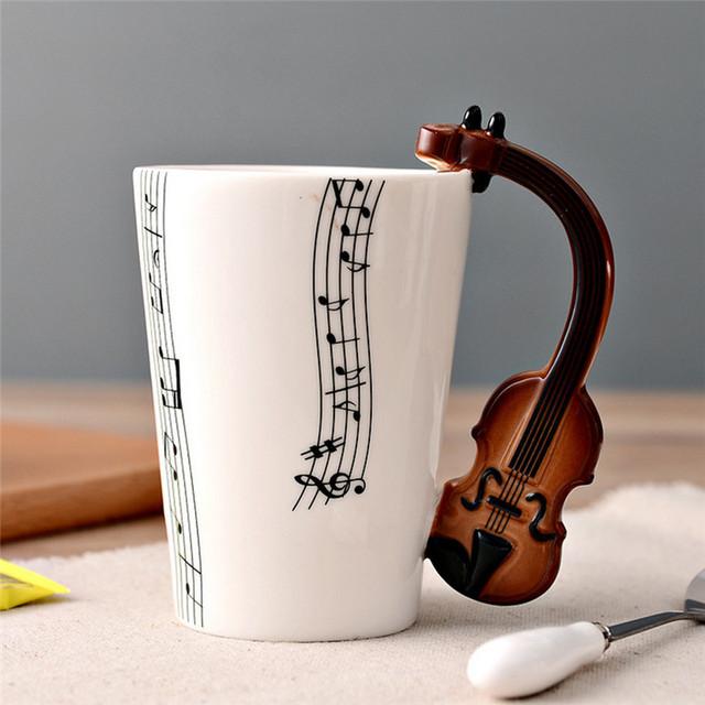 Novelty Guitar Ceramic Cup
