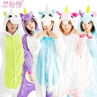 Wholesale Halloween Autumn And Winter Unicorn Pajamas Sets Flannel Pajamas Winter Nightie Stitch Pyjamas For Women