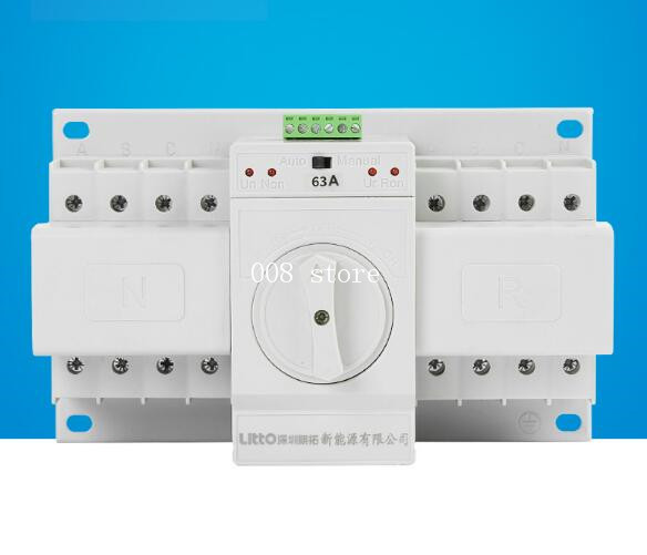 все цены на Micro break double power automatic switch, Q3-63A/4P switch, standby switch, double power supply онлайн