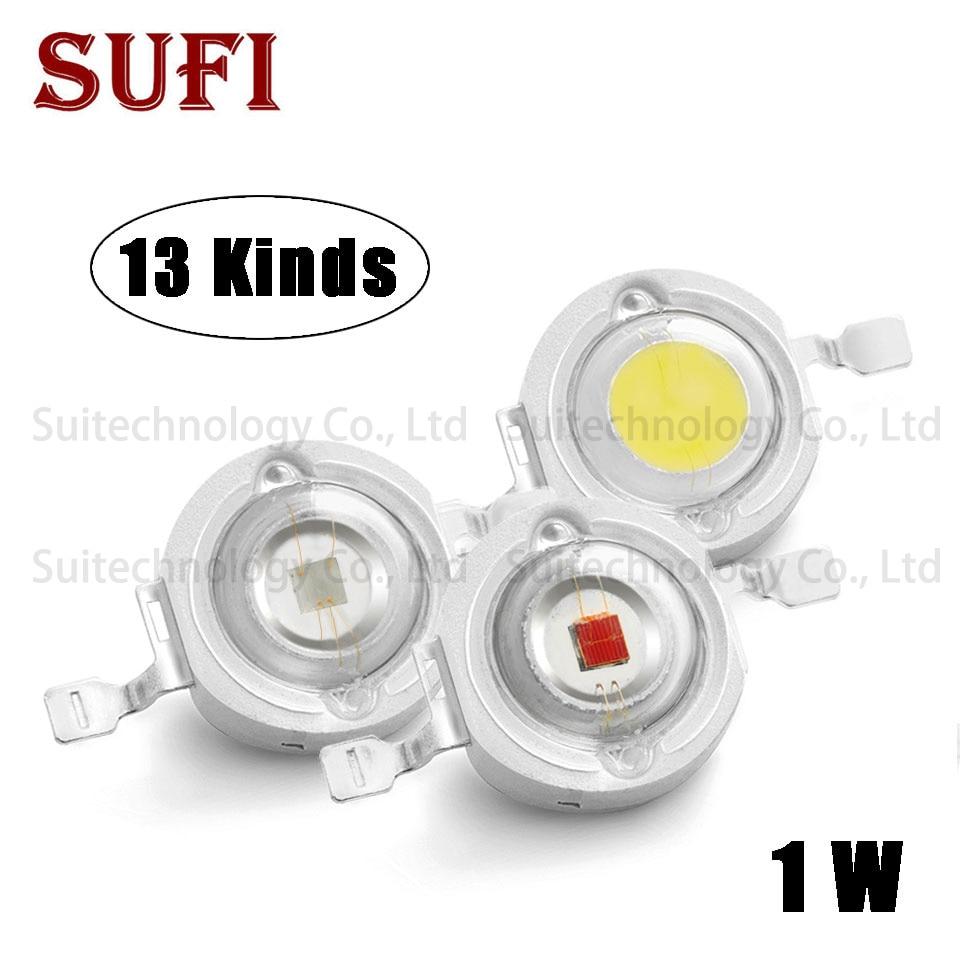 Individual LEDS 10pc 1watt full spectrum led chip 1w 400nm-840nm