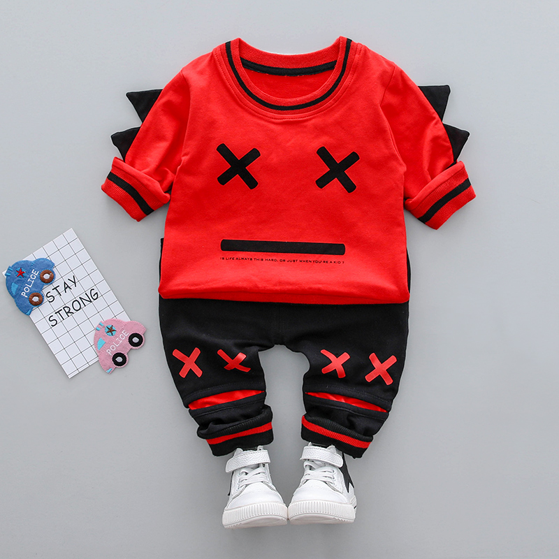 Baby Boy clothes 0-3y 2018 Spring New Fashion Style O-Neck Cotton material High Quality 18010 Children Boys clothing