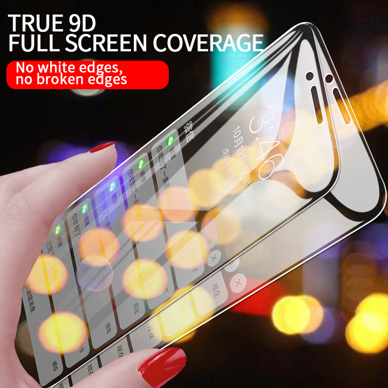 Image 3 - Protective Tempered Glass For iPhone X iPhone 7 HD Transparent Full Screen Protector Glass For iPhone 11 Pro MAX 7Plus 8Plus-in Phone Screen Protectors from Cellphones & Telecommunications