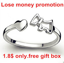 цена на Lose money promotion bestselling hot dog 925 sterling silver ladies`adjustable size rings birthday gift