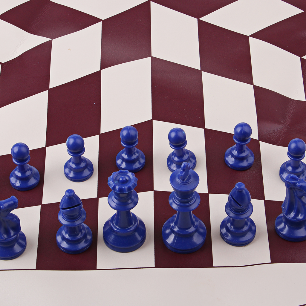 High Quality Three Player International Chess Checker Pieces With Chess Board Chess Set
