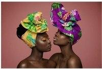 הדפס אפריקאי צבע רב אנקרה ראש גלישת עניבת צעיף Ipele Bazin האפריקאי Gele עשיר בארה 'ב אביזרי שיער באיכות גבוהה WYS15