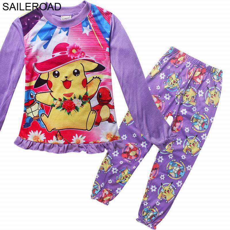 SAILEROAD 3 9Years Cute New Cartoon POKEMON GO Children Kids Pajamas set  Baby Boys Girls Sleepwear Outfits Clothing Suits-in Pajama Sets from Mother    Kids ... 0d94301f2