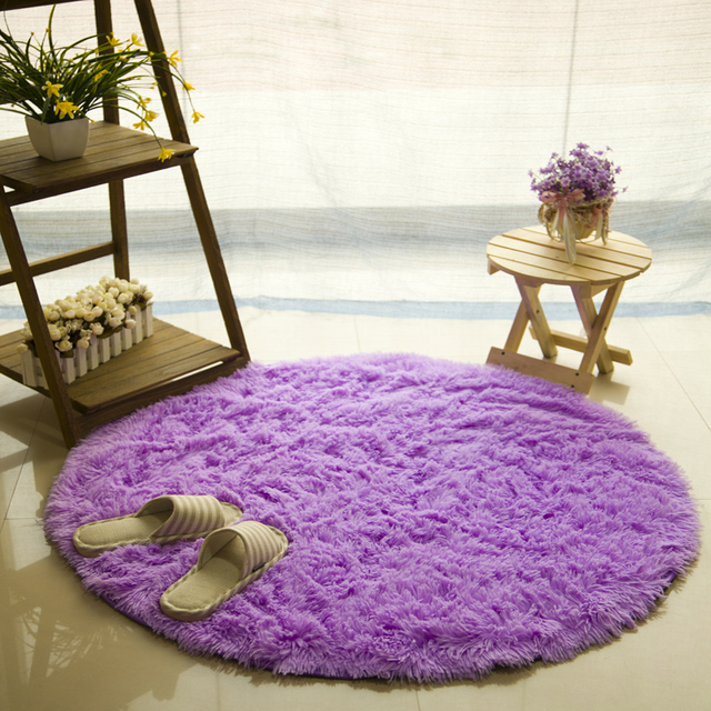 customize all size round plush carpets for living room bedroom rugs