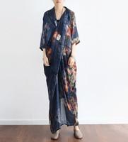 Floral Printed Summer Chiffon Silk Dress Vintage Half Sleeve Cross Party Vestidos De Festa Summer Style