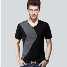 2018 Fashion Summer T Shirt Male Short Sleeved patchwork color cotton  Casual Tees Tops Brand T 3e3abc9b5898