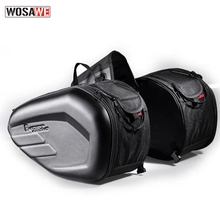 58L Waterproof One Set Motorcycle Saddlebag Universal Moto Riding Knight Helmet Bag Tail Luggage Suitcase for Suzuki Kawasaki цена