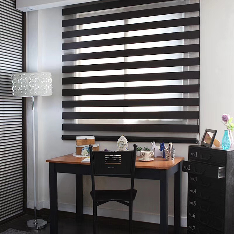 Free Shipping 100 Polyester Translucent Customerized Size Zebra Blinds In White Colors Window Shade Curtains For