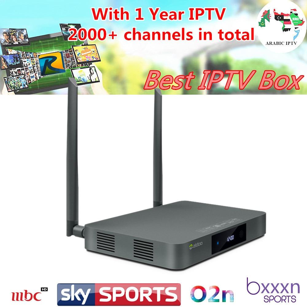 arabic Europe iptv ZIDOO X9S TV BOX Android 6.0 + Royal IPTV 1730+live channels  Netherland OpenWRT(NAS) Realtek RTD1295 2G/16G