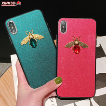 Luxury brand Diamond Bee Glitte soft case for iphone 6S 7 8 plus X XR XS Max hard cover samsung galaxy S8 S9 S10 E Note9 A50