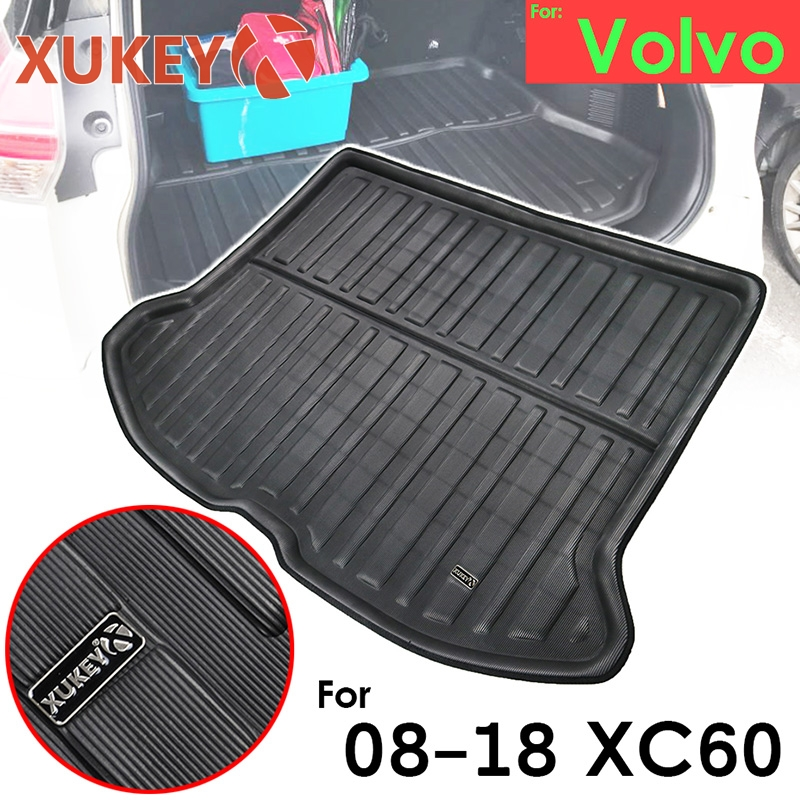 Xukey Boot Cargo Liner For <font><b>Volvo</b></font> <font><b>XC60</b></font> 2009 - 2018 Rear Trunk Mat Tray Floor Carpet 2010 2011 2012 2013 <font><b>2014</b></font> 2015 2016 2017 image