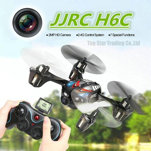2MP HD cámara Drone JJRC H6C 4CH 6-axis Gyro Mini RC Quadcopter del helicóptero