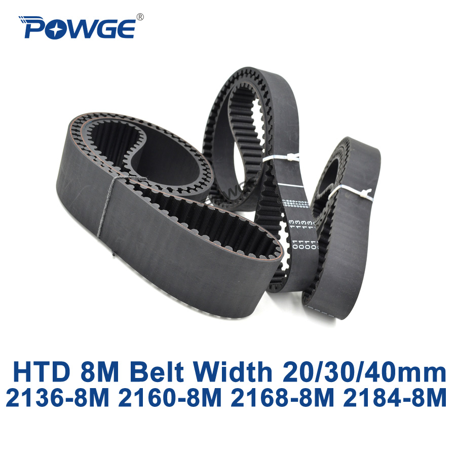 POWGE HTD 8M synchronous Timing belt C=2136/2160/2168/2184 width 20/30/40mm Teeth 267 270 271 273 HTD8M 2136-8M 2160-8M 2184-8MPOWGE HTD 8M synchronous Timing belt C=2136/2160/2168/2184 width 20/30/40mm Teeth 267 270 271 273 HTD8M 2136-8M 2160-8M 2184-8M